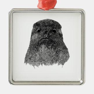 Ejemplo del lobo marino ornamento para arbol de navidad