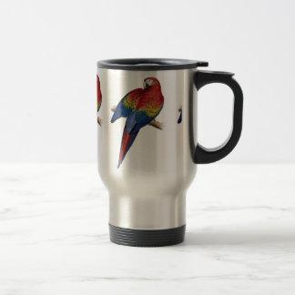 Ejemplo del Macaw del escarlata Tazas