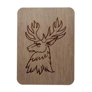 Ejemplo del macho grabado en el diseño de madera iman de vinilo