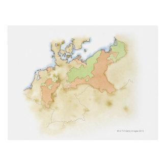 Ejemplo del mapa de Alemania Postales