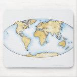 Ejemplo del mapa del mundo alfombrilla de ratón