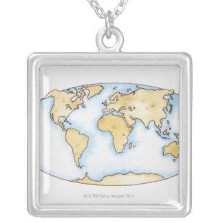 Ejemplo del mapa del mundo grimpola personalizada