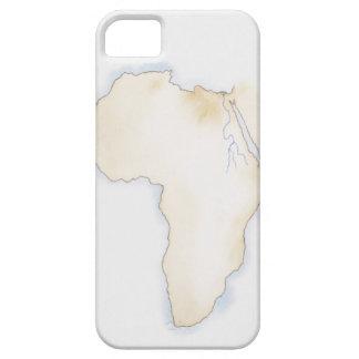 Ejemplo del mapa simple del esquema de África iPhone 5 Case-Mate Carcasas