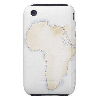 Ejemplo del mapa simple del esquema de África iPhone 3 Tough Cárcasas