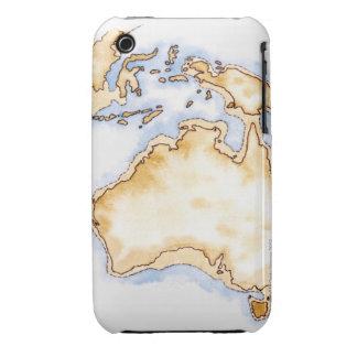 Ejemplo del mapa simple del esquema de Australia Case-Mate iPhone 3 Cárcasas