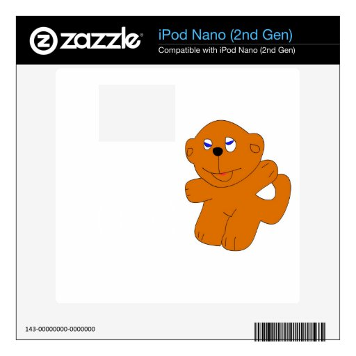 Ejemplo del mono calcomanías para iPod nano 2G