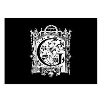Ejemplo del monograma de G de la letra de los 1800 Tarjetas De Visita Grandes