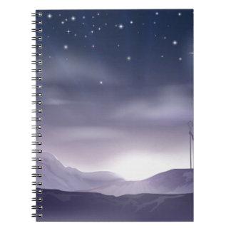 Ejemplo del navidad de la natividad de Maria y de  Cuaderno