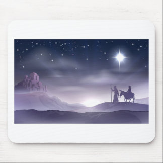 Ejemplo del navidad de la natividad de Maria y de  Alfombrillas De Raton