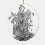 Ejemplo del navidad del padre del vintage adorno de reyes