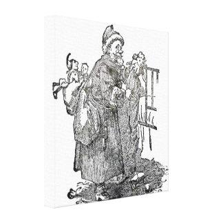 Ejemplo del navidad del padre del vintage impresión en lona