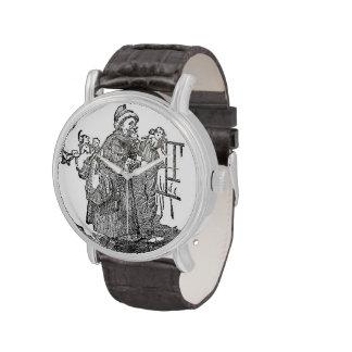 Ejemplo del navidad del padre del vintage relojes de pulsera