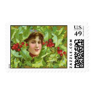 Ejemplo del navidad del vintage sellos