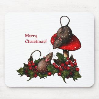 Ejemplo del navidad: Ratones, Toadstool, acebo, Mousepads