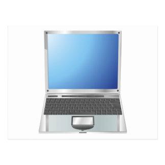 Ejemplo del ordenador portátil derecho tarjeta postal