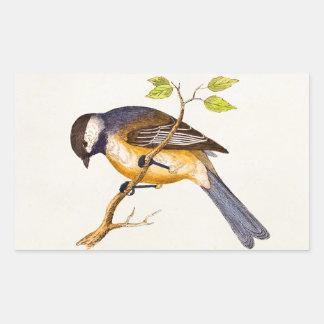 Ejemplo del pájaro de la canción del vintage - pegatina rectangular