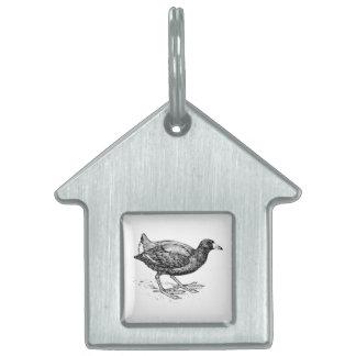 Ejemplo del pájaro de la focha placa mascota