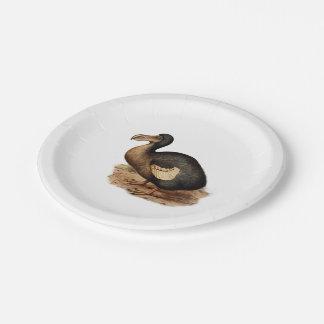 Ejemplo del pájaro del Dodo del vintage Plato De Papel 17,78 Cm