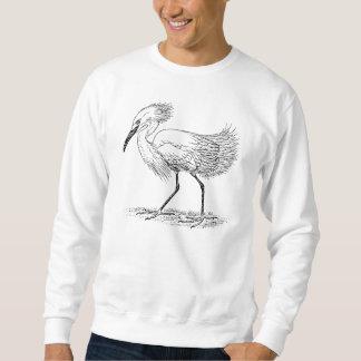 Ejemplo del pájaro del Egret Sudaderas Encapuchadas