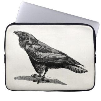 Ejemplo del pájaro del mirlo de cuervo del cuervo funda computadora