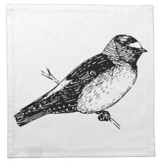 Ejemplo del pájaro del trago de acantilado