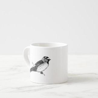 Ejemplo del pájaro del trago de acantilado tazitas espresso