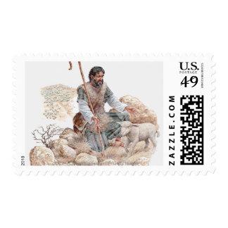 Ejemplo del pastor que encuentra sus ovejas sello