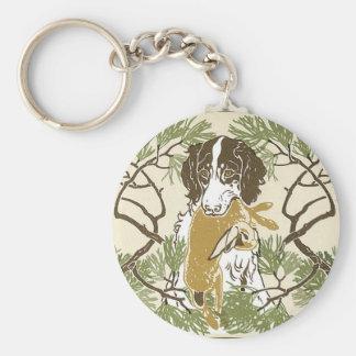 Ejemplo del perro de caza de Nouveau del arte Llavero