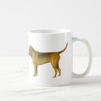 Ejemplo del perro de la sangre del vintage taza