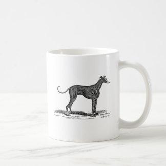 Ejemplo del perro del galgo de los 1800s del taza