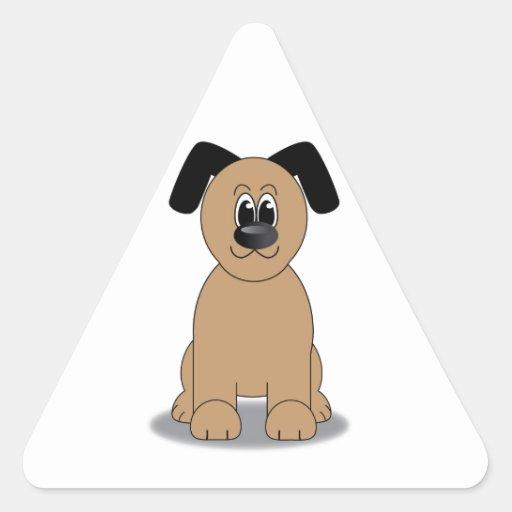Ejemplo del perro pegatina triangular
