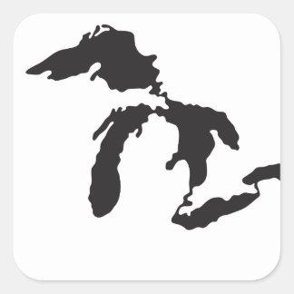 Ejemplo del personalizado de Great Lakes Calcomanías Cuadradas