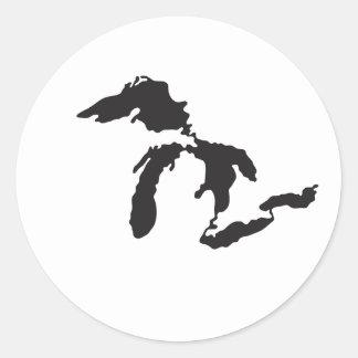 Ejemplo del personalizado de Great Lakes Etiquetas Redondas