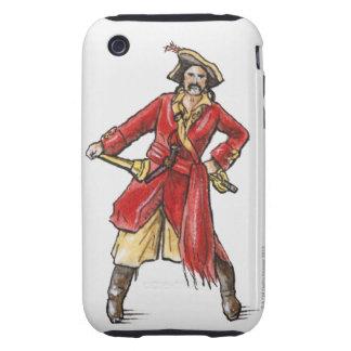 Ejemplo del pirata tough iPhone 3 cárcasa