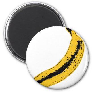Ejemplo del plátano en estilo del arte pop imanes
