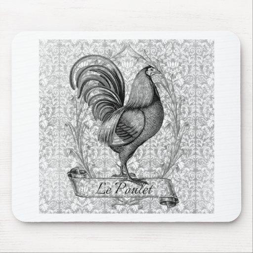 Ejemplo del pollo del vintage tapete de ratones