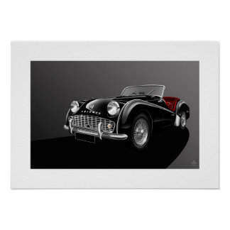 Ejemplo del poster de Triumph TR3A