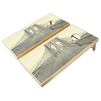Ejemplo del puente de Brooklyn del vintage (1883) Juego De Cornhole