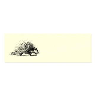 Ejemplo del puerco espín del vintage - puercos plantilla de tarjeta de visita