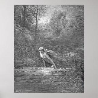 Ejemplo del purgatorio del grabado de Gustavo Dore Póster
