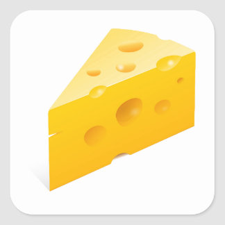 Ejemplo del queso pegatinas cuadradases personalizadas
