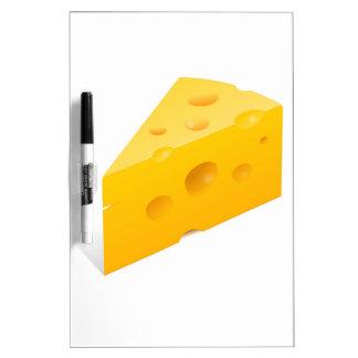 Ejemplo del queso pizarras blancas