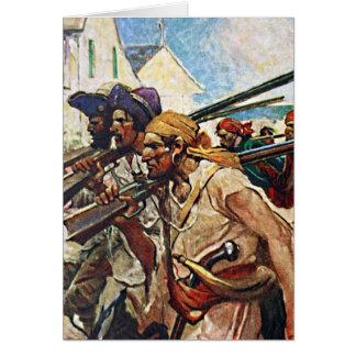 Ejemplo del Redcoat de los piratas que marcha
