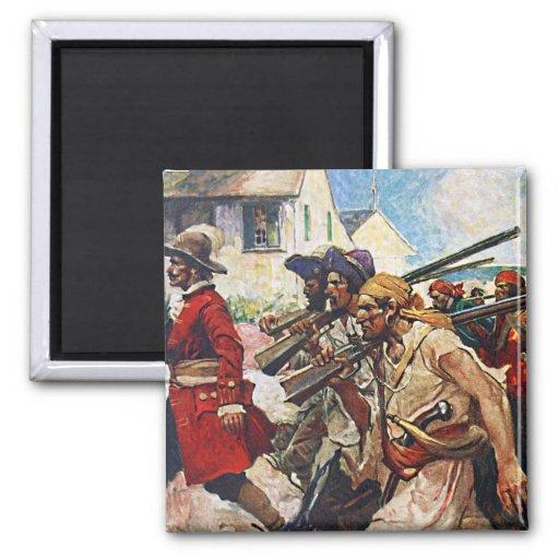 Ejemplo del Redcoat de los piratas que marcha: Imán De Frigorifico