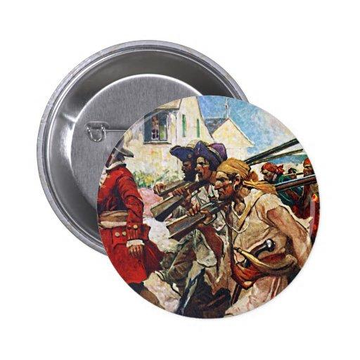Ejemplo del Redcoat de los piratas que marcha Pins