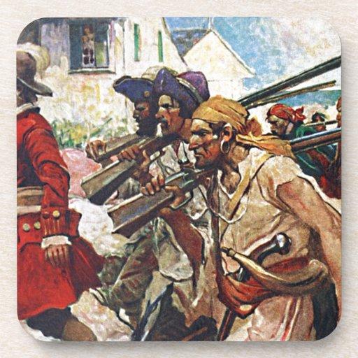 Ejemplo del Redcoat de los piratas que marcha Posavasos