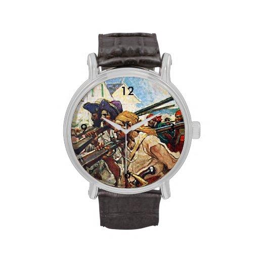 Ejemplo del Redcoat de los piratas que marcha: Reloj