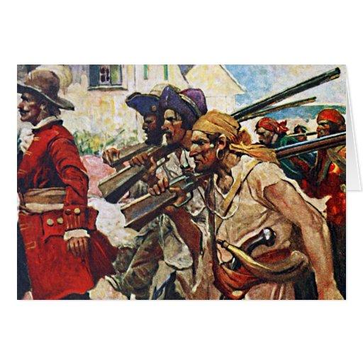 Ejemplo del Redcoat de los piratas que marcha: Tarjeta