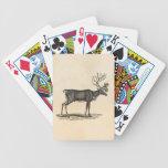 Ejemplo del reno del vintage - navidad 1800's cartas de juego