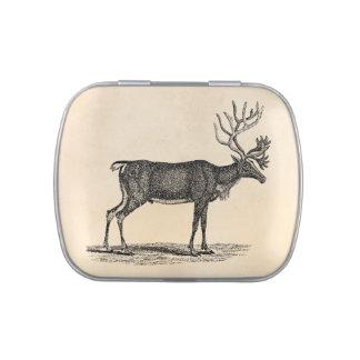 Ejemplo del reno del vintage - navidad 1800's jarrones de dulces